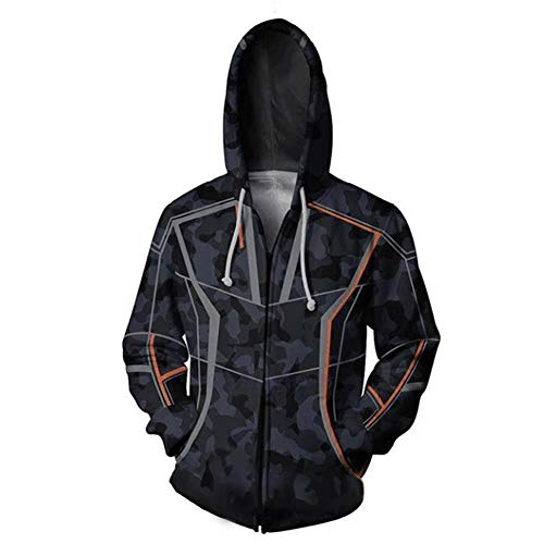 Xcoser Iron Man Tony Stark Kapuzen pullover 3D Gedruckt Sweatshirt Film Cosplay Jacke Herren Terylene Hoodie Zip-up Kleidung für Frühling Herbst