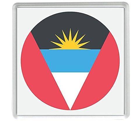 Flagge für Antigua und Barbuda Emoji-Single 80mm x 80mm Untersetzer