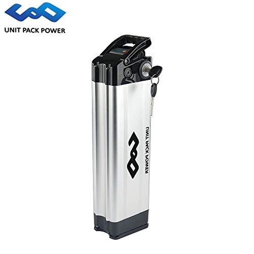uppcycle Batteria per Bici elettrica, 48V 17.5AH / 14AH Batteria per Pesci con scheggia + Safe Lock + Caricatore 2A, Adatta Bafang 48V 750W / 1000W Motore (Sliver, 48V 17.5AH)