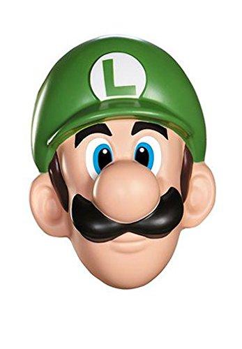 Unbekannt Super Mario 13384-Maske Luigi für Erwachsene, grün, (Luigi Für Erwachsene Kostüm Maske)