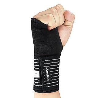 [Handgelenkbandage] Auskio Handgelenk Stützbandage Ideal für Karpaltunnelsyndrom oder Zerrungen des Handgelenks im Alltag