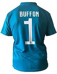 Camiseta Jersey Futbol Juventus Gianluigi Buffon 1 Replica Autorizado 2017-2018 Niños Adultos (Talla 12 Años)
