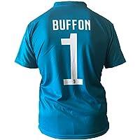 Maillot Football Juventus Gianluigi Buffon 1 Réplique Autorisé 2017-2018 Jeunes Hommes