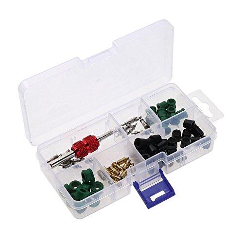 VROSE FLOSI 71PCS/Set a/c Gummi Dichtung + AC Ventil Core + Entferner Werkzeug Sortiment Kit (Ac-ventil-core)