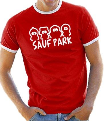 touchlines-herren-sauf-park-ringer-kontrast-t-shirt-b5090-red-white-xl