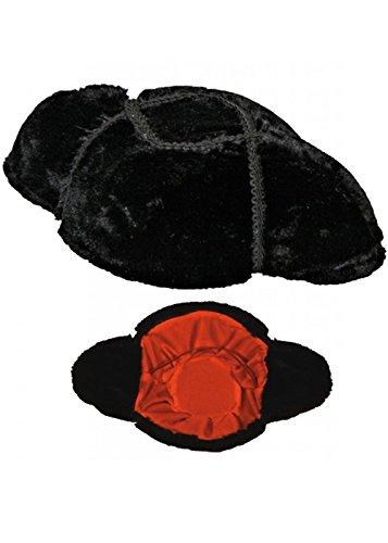 Erwachsene Deluxe schwarz spanische Matador Hut