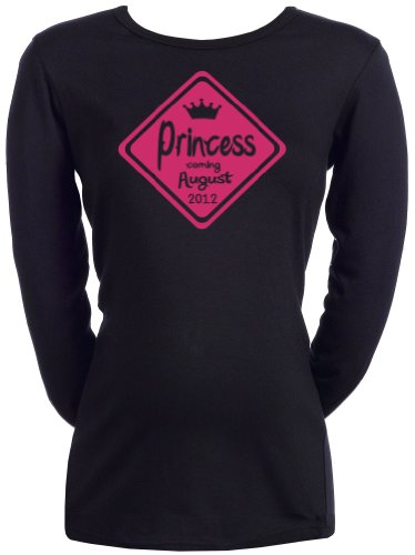 Spoilt Rotten - CUSTOM Princess On - Femmes T-shirt de grossesse Noir, XXL