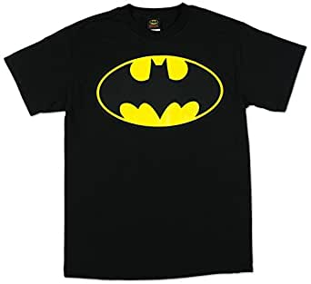 Batman - - Classic Logo Erwachsene T-Shirt in schwarz, Medium, Black