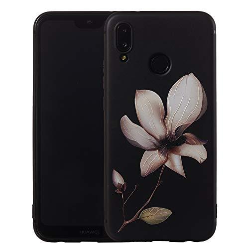 DAYNEW für Huawei P Smart (2019) Hülle,Elegant Tier Blumenmuster Beauty Schützend Stoßfest Handyhülle Case Back Cover für Huawei P Smart (2019)-#003