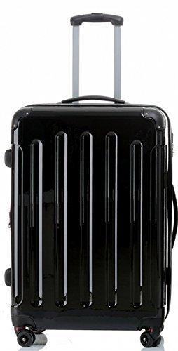 Trolley - Koffer - 75 cm - Dehnfalte - XXL-Volumen - schwarz