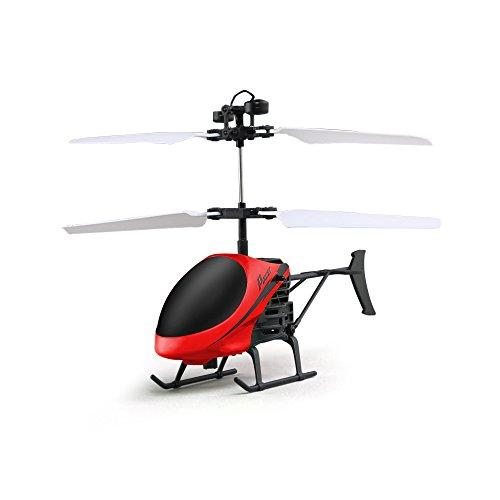 Ebilun RC Drone Mini Infrarot induktions Ein - Tasten - Fernbedienung fernbedienung Flugzeug mit Blitzlicht D715-1 Hubschrauber für Geburtstag Weihnachten Neujahr Geschenke Pay Rot