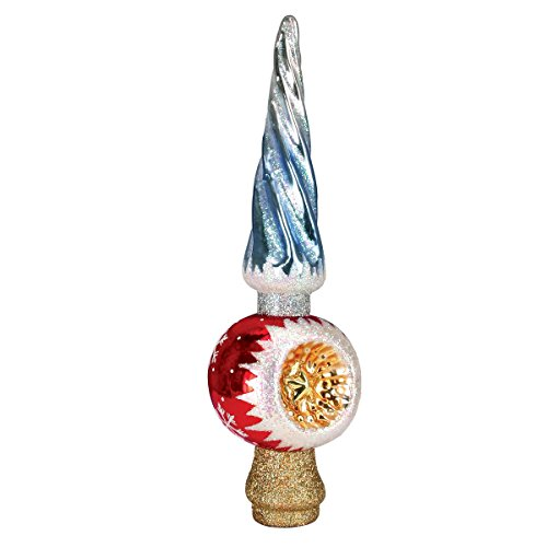 Old World Weihnachten Twisted Spire Weihnachtsbaum Top Glas geblasen Ornament