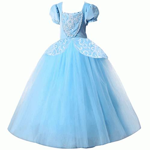 Prinzessinnenkleider für Mädchen, luxuriöse Kostüme, Kleid für Partys und Bälle, blau, blau (Tutu Cinderella Kostüm)