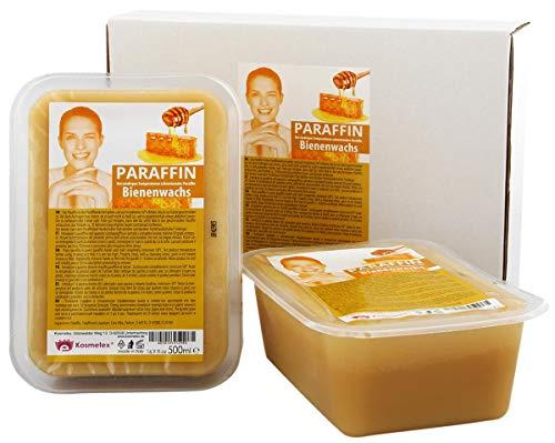 Kosmetex Paraffin-wachs Bienenwachs, Paraffinbad Wachs mit niedrigeren Schmelzpunkt, 2x 500ml -
