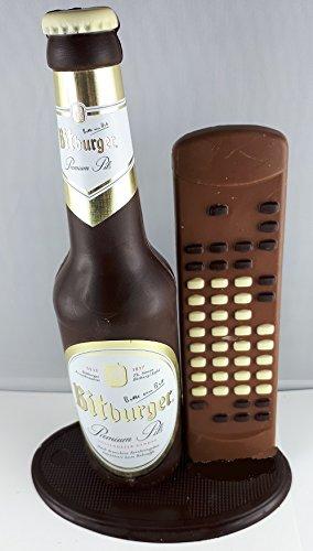 09#041620 Schokolade, Bierflasche, in ORIGINAL Größe, mit Fernbedienung, Bitburger Bier,...