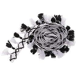 B Baosity 3 Meter Quaste Fringe Trim Ribbon Quaste Trim Spitzenborte Spitzenband Geflecht Jacquard Ribbon Trim Verschönerung