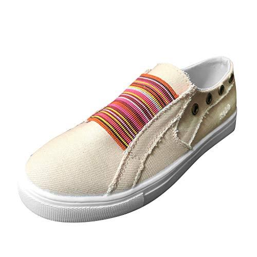 hsene Espadrilles Atmungsaktive Classic Flache Leicht Sneaker Bootsschuhe Sommerschuhe Freizeitschuhe 35-43 ()