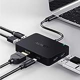 AUKEY USB C Hub HDMI Port ( 4K ) , 4 USB 3.0 Ports , 60W USB C Ladeanschluss ( Power Delivery ) USB Typ C Adapter für MacBook Pro 2016 / 2017 , iMac 2017, Chrome Pixel , Samsung S8 usw.