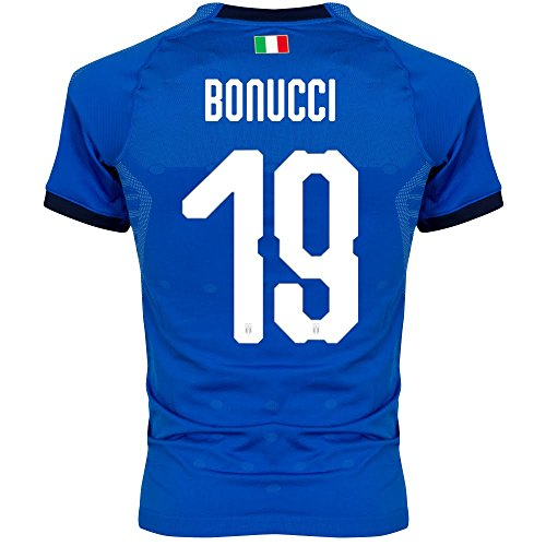 Puma Italien Home Authentic Evoknit Trikot 2018 2019 + Bonucci 19 - S -