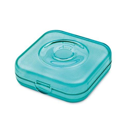 Tampons-box (Koziol Private Box transparent türkis Aufbewahrungsbox, Plastik, 6.5 x 6.5 x 2.3 cm)