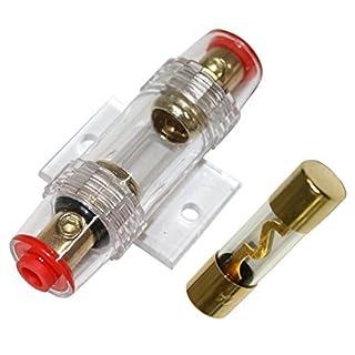 Aerzetix - 60A AGU Sicherung + Sicherungshalter für Auto Auto klingen Sub Amp