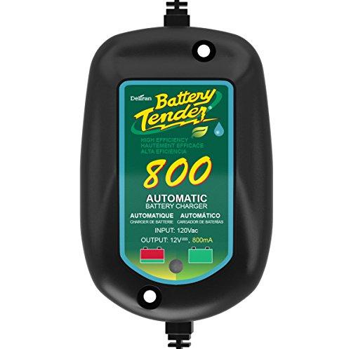 Battery Tender 022-0150-DL-WH 800 Caricabatterie con tecnologia SuperSmart Battery Charger per monitorare, ricaricare e mantenere la batteria, incapsulato e con isolamento elettrico per proteggerlo dall'umidità, Presa americano