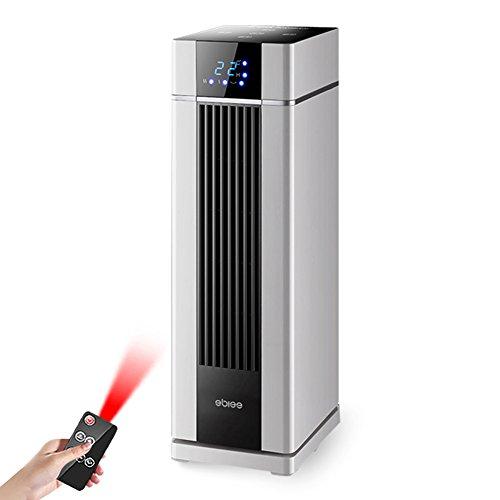 Radiateurs électriques YIXINY NSD-200T Télécommande Cuboid Vertical Touchez L'écran LCD Numérique Chauffage Céramique PTC 2000W Blanc