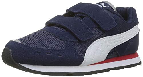 Puma Unisex-Kinder Vista V PS Sneaker, Blau (Peacoat White), 29 EU