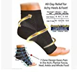 #9: Ankle Compression Sleeve (1Pair) Brace Support, Relieve Plantar Fasciitis, Reduces Pain/Swelling, Supports Foot Blood Flow-for Men and Women (Black, M/L)