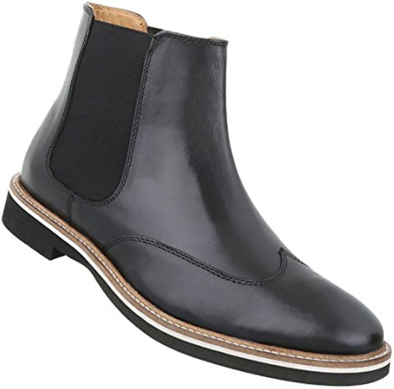 Herren Schuhe Boots LederHerren Schuhe Boots Leder Schwarz Billig und erschwinglich Im Verkauf