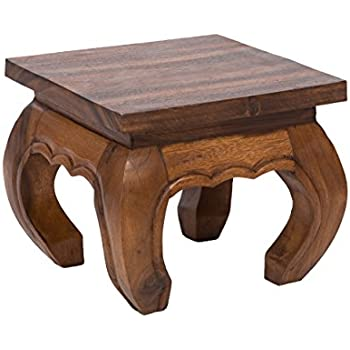 Opium Coffee Table 30x25cm, From Solid Wood (Albizia Lebbeck)