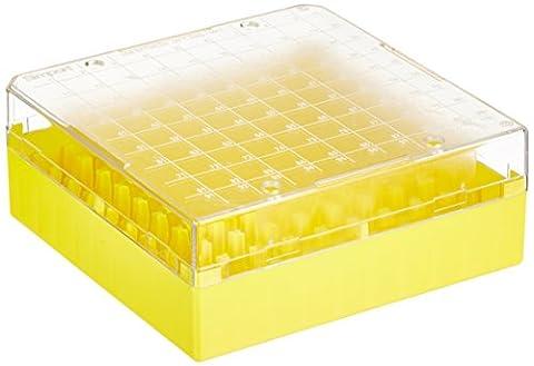 Neolab 78044Kryo Plastic Storage Boxes PS 100Carports, Yellow (Pack of