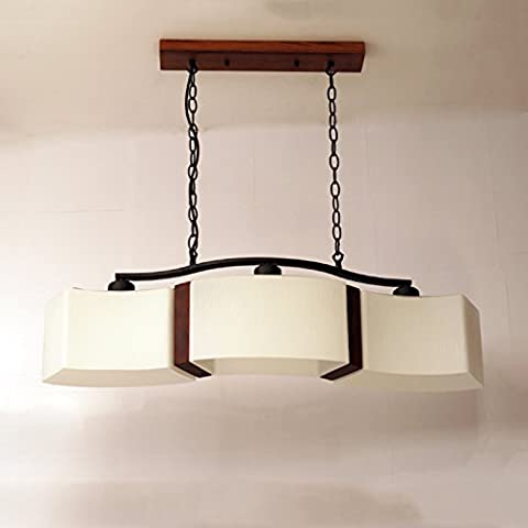 Fei & S lunga durata e vintage moderno lampadario in vetro, paralume lampadario, con miglior servizio Two bare lamps yellow +7WLED light source