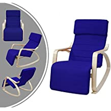 Sedia a dondolo imbottita in stile moderno - Blu