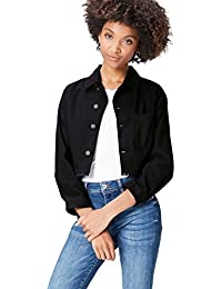 FIND Women's Raw Edge Cropped Long Sleeve Jacket