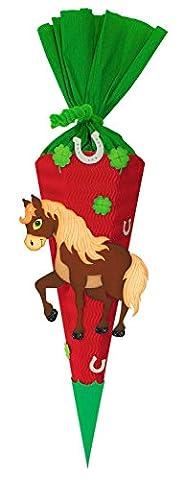 Ursus 9860007 - Schultüten Bastelset Mini Pferd, 6 eckig, 41 cm
