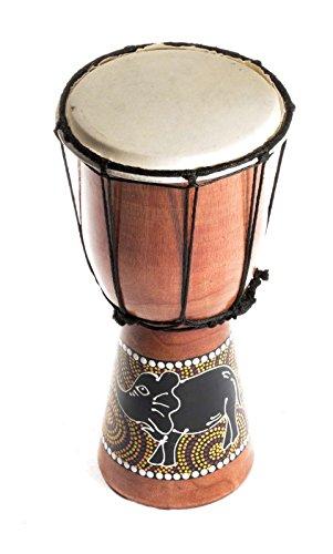 30cm Kinder Djembe Trommel Bongo Drum Holz Bunt Elefant