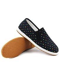 1b434c4ed WZF Melaleuca Bottom Zapatos de los Hombres Transpirable Fondo Suave de la  Parte Inferior del tendón de Viento Chino impresión Moda…