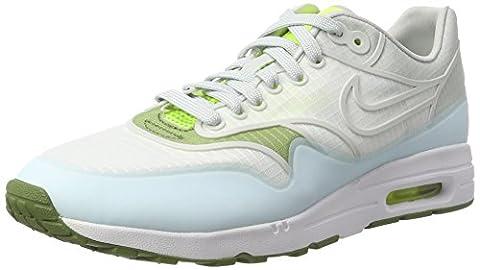 Nike Wmns Air Max 1 Ultra 2.0 Si, Sneakers Basses Femme, Blanc Cassé (White/Pure Platinum/Volt/Palm Green), 41