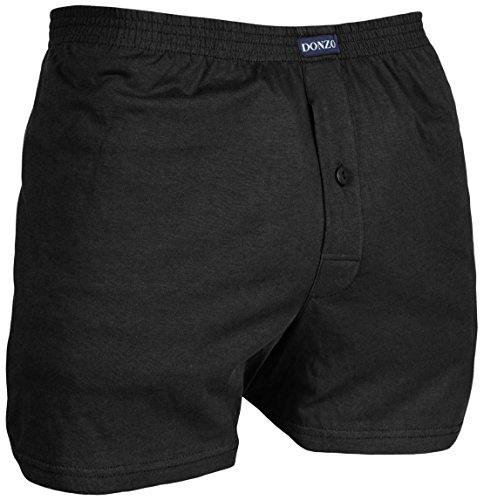 DONZO Herren Boxershorts American Style atmungsaktiv mit Vordereingriff, 10er Pack in verschiedenen Farben Mehrfarbig