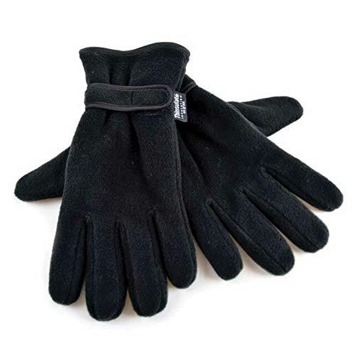 2c923ace7da86 Floso - Gants thermiques en polaire Thinsulate - Homme (L/XL) (Noir