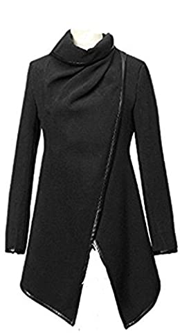 Newfacelook Womens Ladies Designer PU Zipper Trench Parka Casual Jacket Coat Outerwear