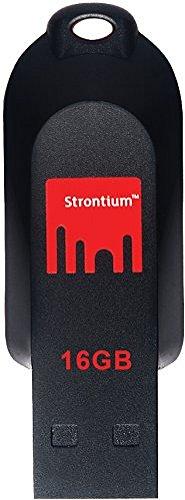 Strontium Pollex 16GB USB Pen Drive (Black/Red)