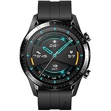 HUAWEI  Watch GT 2 Smartwatch 46 mm, Durata della Batteria Fino a 2 Settimane, GPS, 15 Modalità di Allenamento, Display del Quadrante in Vetro 3D, Chiamata Tramite Bluetooth, Matte Black