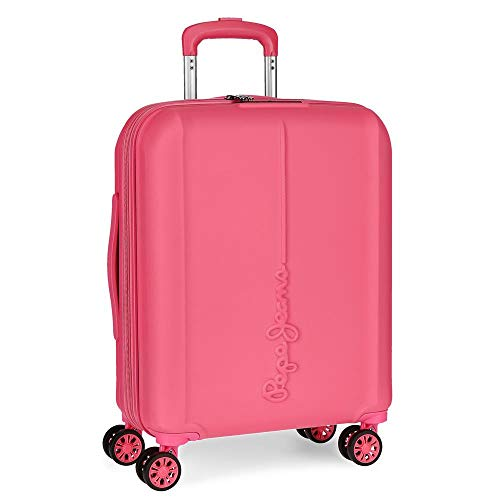 Pepe Jeans Glasgow Pink Rigid Cabin Trolley