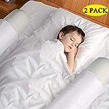 Kaome Bettgitter Kinderbett-Schutzgeländer [2er Pack], aufblasbarer Bettschutzbügel, rutschfester Handlauf mit Luftpumpe und abnehmbare Abdeckung für Hotelurlaub