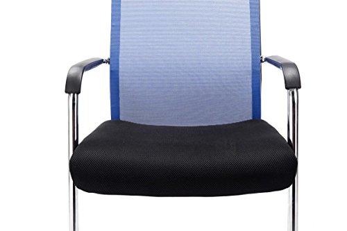 CLP Freischwinger-Stuhl mit Armlehne BRENDA, Blau - 6