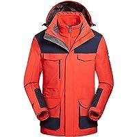 Zilee Chaqueta de Esquí de Hombres - Impermeable Abrigo Cálido 3 en 1 Cazadora de Invierno Traje de Nieve Transpirable Vellón Interior para Montañismo Corriendo
