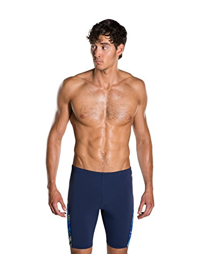 Speedo Herren Schwimmhose mit Allover-Digital-Print Swimwear, Navy/Danube/Light Adriatic, 36