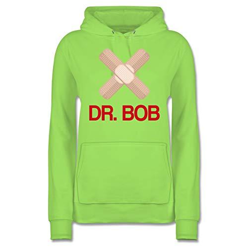 Shirtracer Karneval & Fasching - Dr. Bob Kostüm Pflaster - M - Limonengrün - JH001F - Damen Hoodie